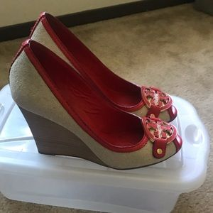 Tory Burch Shoes - Tory Burch espadrille wedge heels